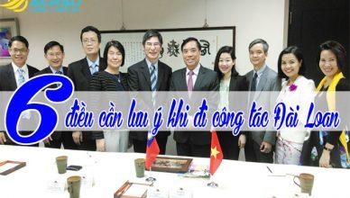 6 điều cần lưu ý khi đi công tác Đài Loan