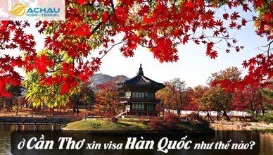 Ở Cần Thơ xin visa Hàn Quốc như thế nào?