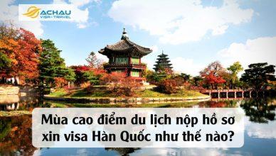 Mùa cao điểm du lịch nộp hồ sơ xin visa Hàn Quốc như thế nào?
