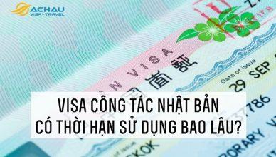 Visa công tác Nhật Bản có thời hạn sử dụng bao lâu?