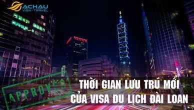Thời gian lưu trú của visa du lịch Đài Loan theo chính sách mới 8/2018