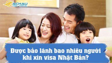 duoc bao lanh bao nhieu nguoi khi xin visa nhat ban