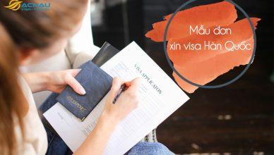 Mẫu đơn xin visa Hàn Quốc công tác
