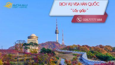 Visa Hàn Quốc lấy gấp