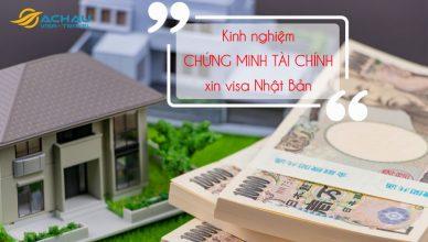 Chứng minh tài chính xin visa Nhật Bản du lịch