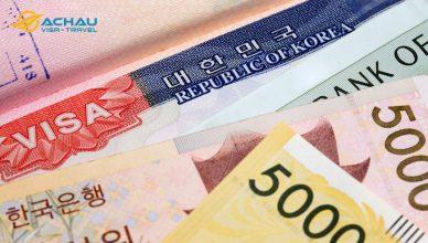 Chứng minh tài chính xin visa du lịch Hàn Quốc